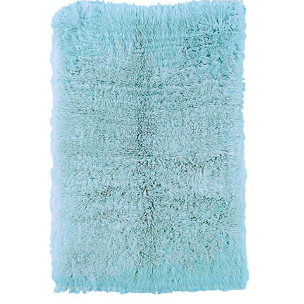 Linon Home Decor New Flokati Pastel Blue 8 Ft X 10 Ft