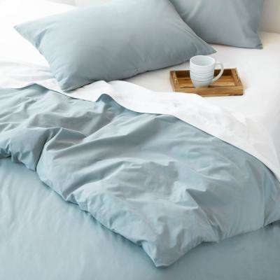 The Cozy Cotton Chambray Blue Full/Queen Duvet Set