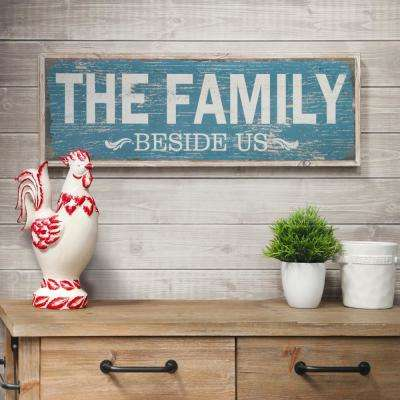 "11.75 in. x 37.00 in. ""The Family Beside Us"" Printed Wall Art"