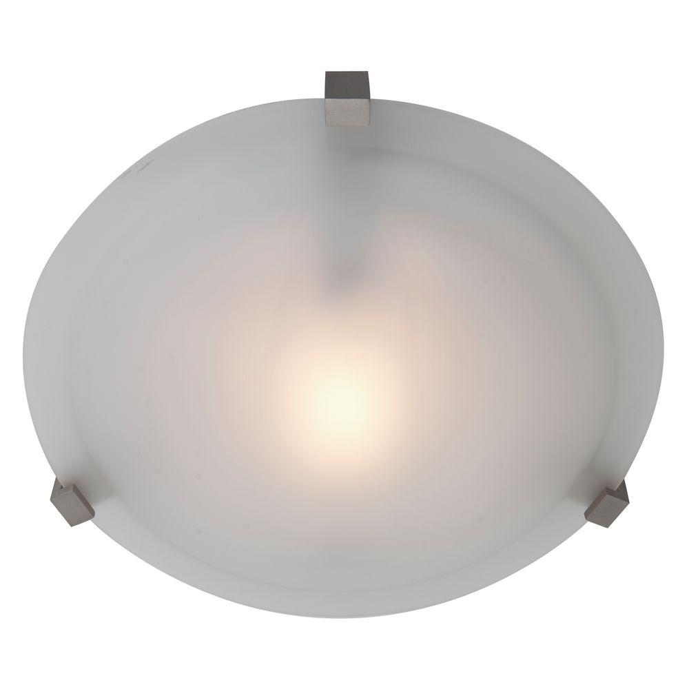 Access Lighting Cirrus 1 Light Satin Flush Mount With Frosted Gl Shade