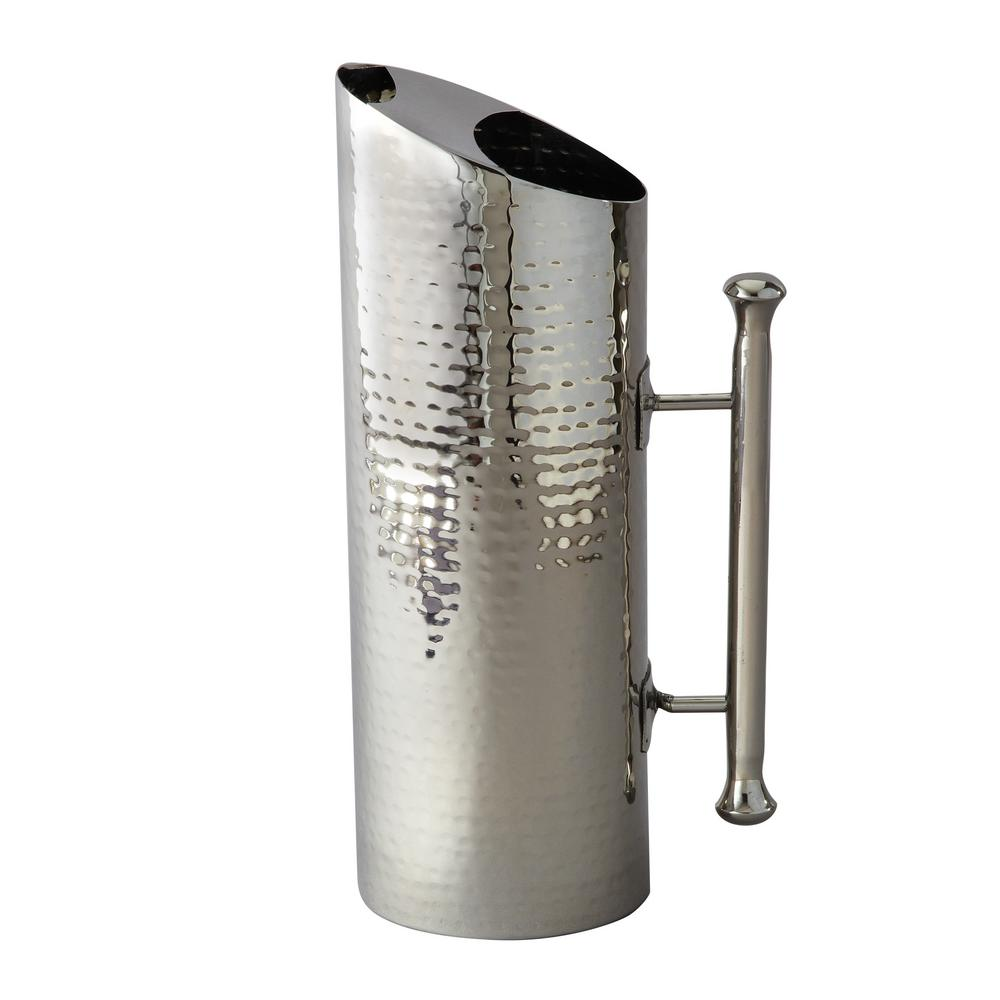 60 oz. Hammered Stainless Steel Cylindrical Pitcher