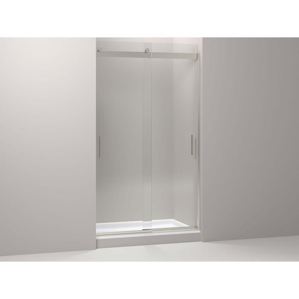 Shower Door kohler levity shower door installation photos : KOHLER Levity 48 in. x 82 in. Semi-Frameless Sliding Shower Door ...
