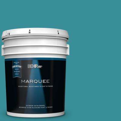 5 gal. #MQ6-34 Prophetic Sea Satin Enamel Exterior Paint and Primer in One