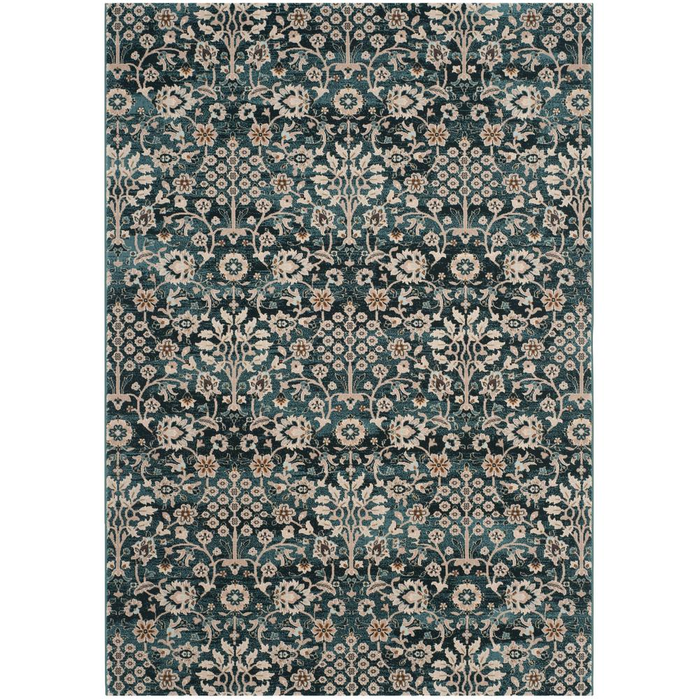 Safavieh Wyndham Turquoise Green 8 Ft X 10 Ft Area Rug: Safavieh Serenity Turquoise/Cream 8 Ft. X 10 Ft. Area Rug