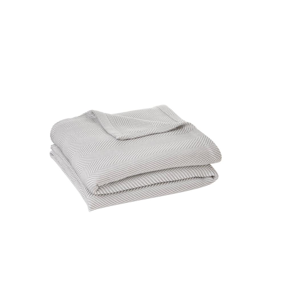 Cotton TENCEL Blend King Blanket in Shadow Gray