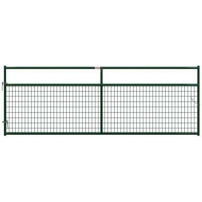 12 ft. x 1-5/8 in. Dia In-Ground Wire Filled Gate
