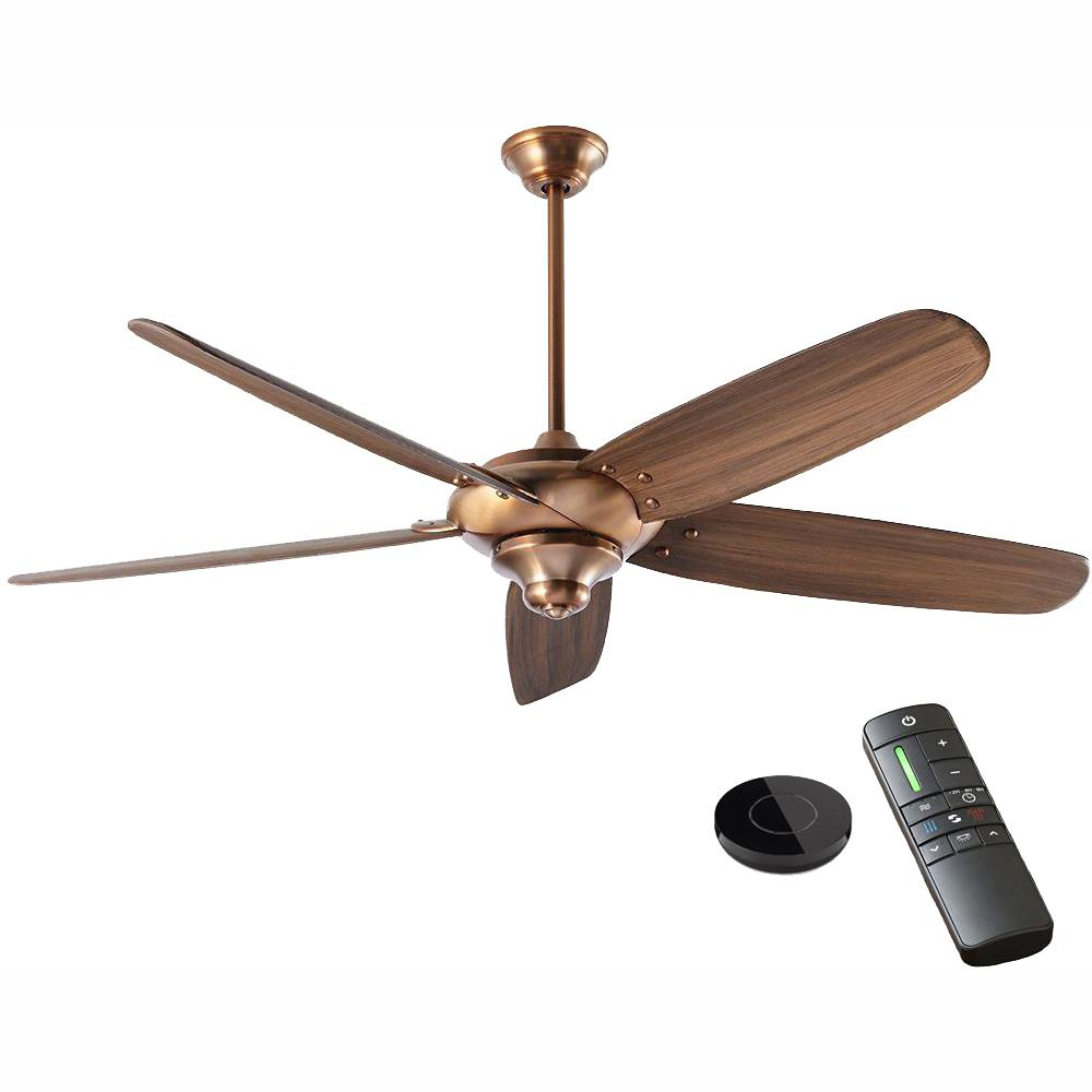 Home Decorators Collection Altura DC 68 in. Vintage Copper Ceiling Fan works with Google Assistant and Alexa