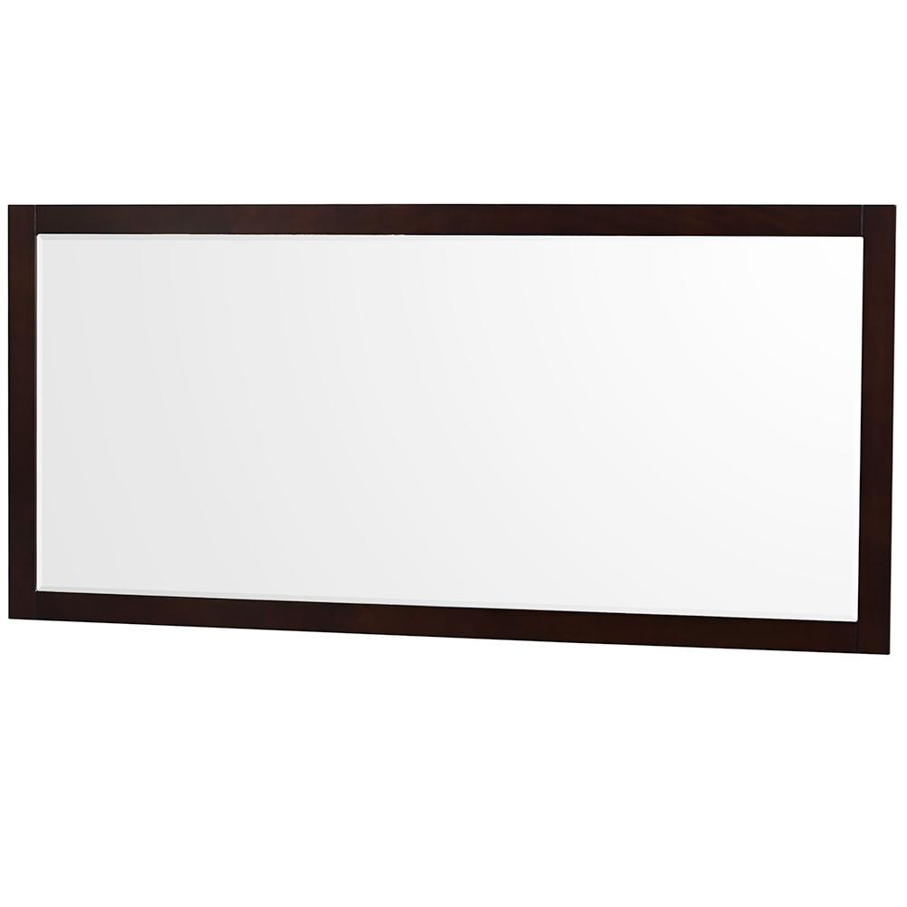 Wyndham Collection Natalie 70 in. W x 33 in. H Framed Wall Mirror in Espresso