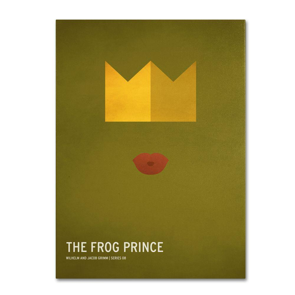 14 in. x 19 in. The Frog Prince Canvas Art
