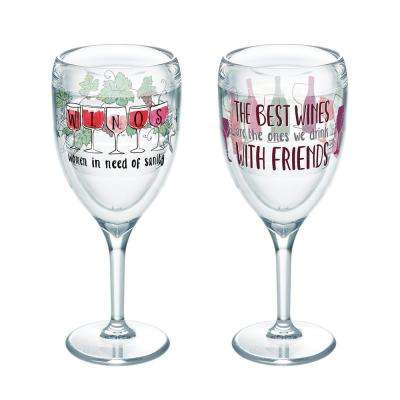 Winos Wine 9 oz. Insulated Wine Glasses with Friends (2-Pack)