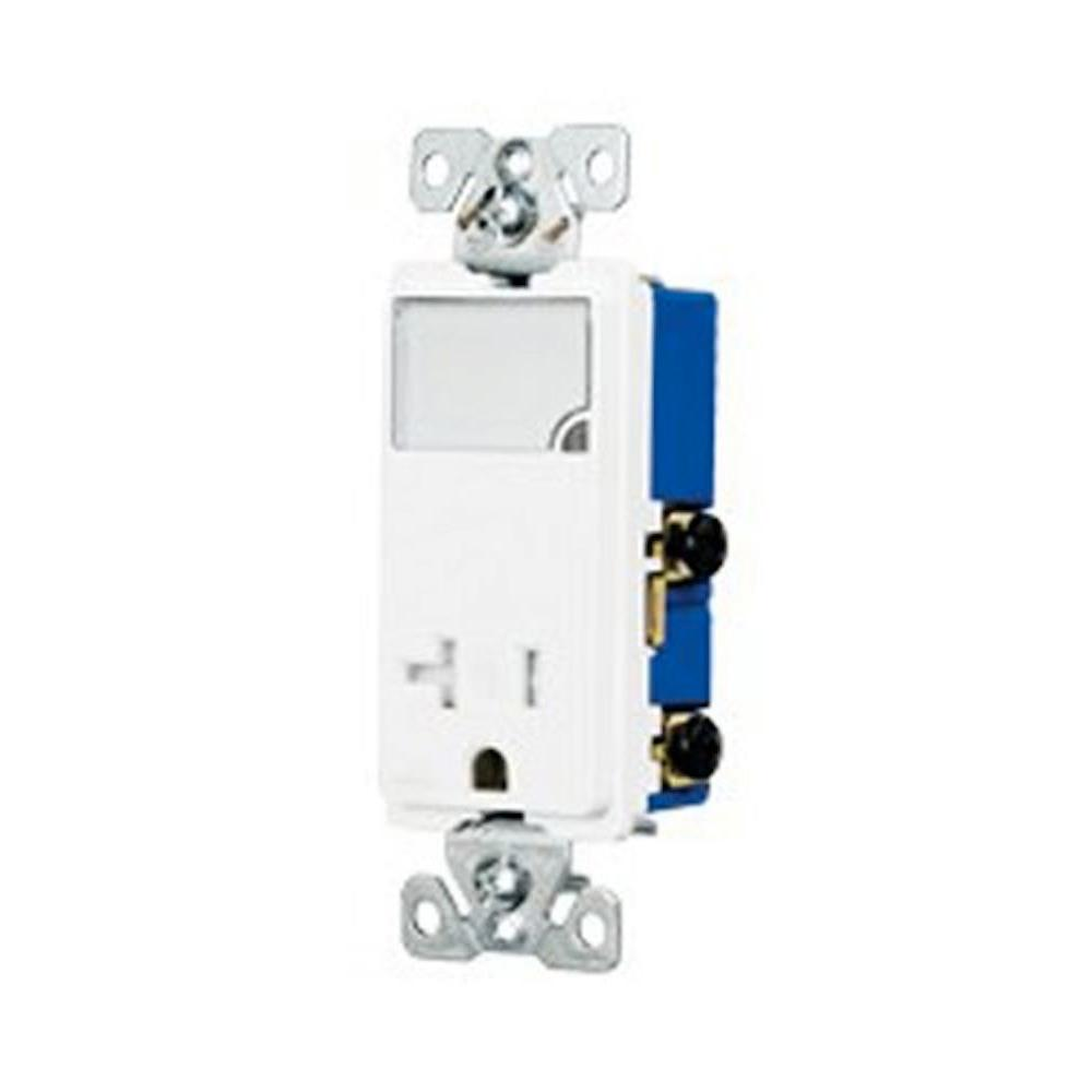 Eaton 3-Wire Receptacle Combo Nightlight with Tamper Resistant 2 ...