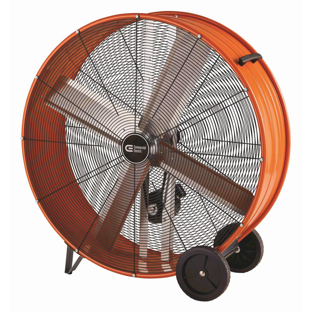 Heavy Duty Belt Drive Drum Fan with Hanging Receivers