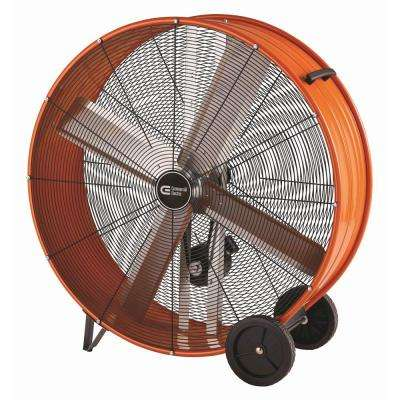 42 in. Heavy Duty Belt Drive Drum Fan with Hanging Receivers