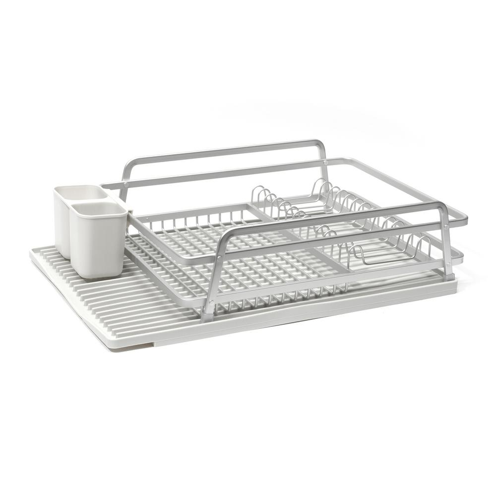 Ta Da 21 In X 14 75 In Single Level Dish Rack In Brushed