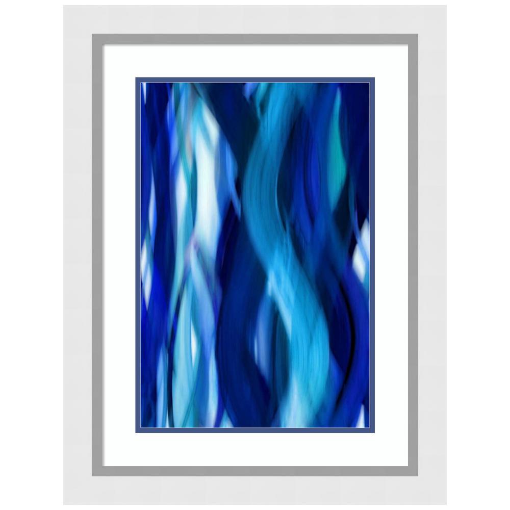 Amanti Art Indigo Flow I by Annie Campbell Framed Print Wall