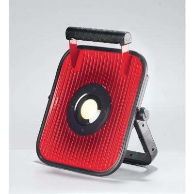 20-Watt Red and Black Integrated LED Portable Worklight