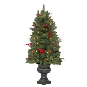 Deals on 3 ft. Pre-Lit Winslow Fir Potted Artificial Christmas Tree