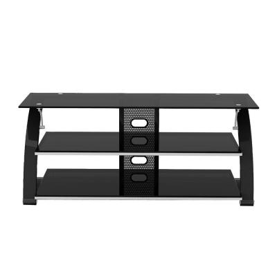 Vitoria 55 in. black Metal TV Stand 65 in. with Cable Management