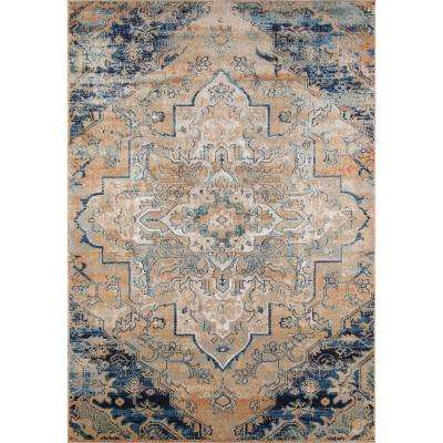 Amelia Navy 4 ft. x 6 ft. Indoor Area Rug