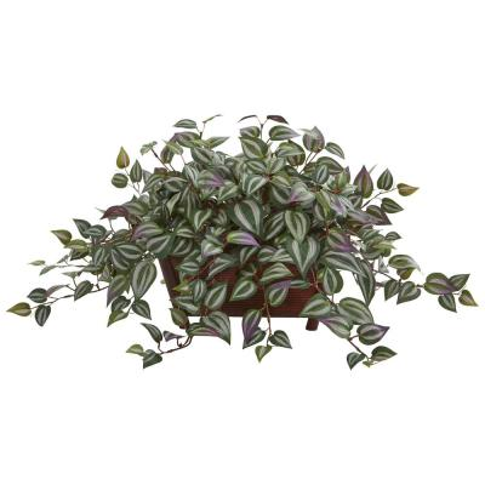 Indoor Wandering Jew Artificial Plant in Decorative Planter