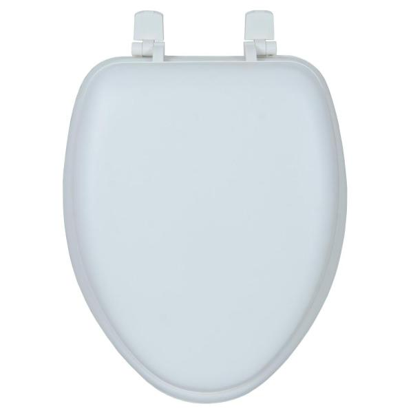 Glacier Bay Soft Elongated Closed Front Toilet Seat In White Sh25p Hd3 The Home Depot