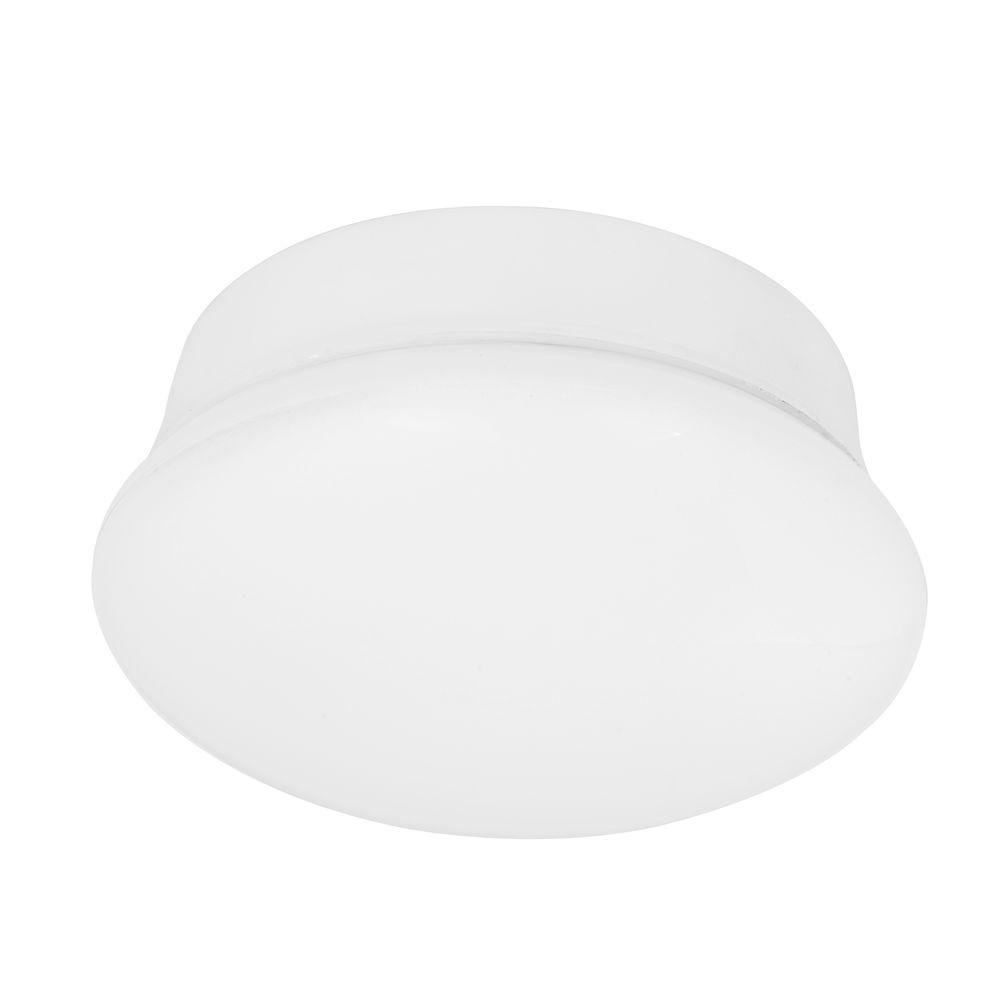 Commercial electric 7 in bright white led flushmount ceiling light commercial electric 7 in bright white led flushmount ceiling light lampholder replacement fixture aloadofball Image collections