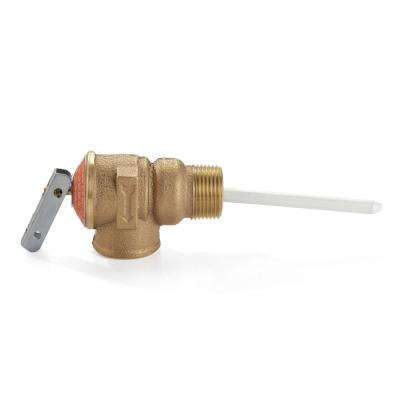 3/4 in. Brass Temperature and Pressure Relieve Valve