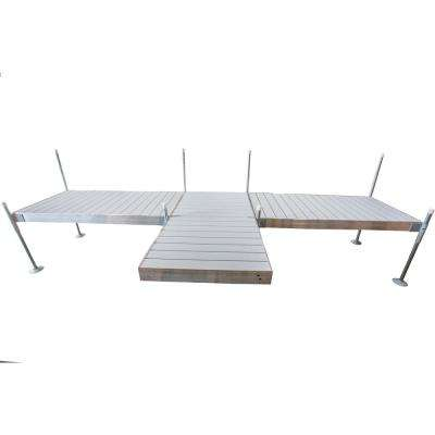 8 ft. Shore T-Style Aluminum Frame With Aluminum Decking Platinum Series Complete Dock Package