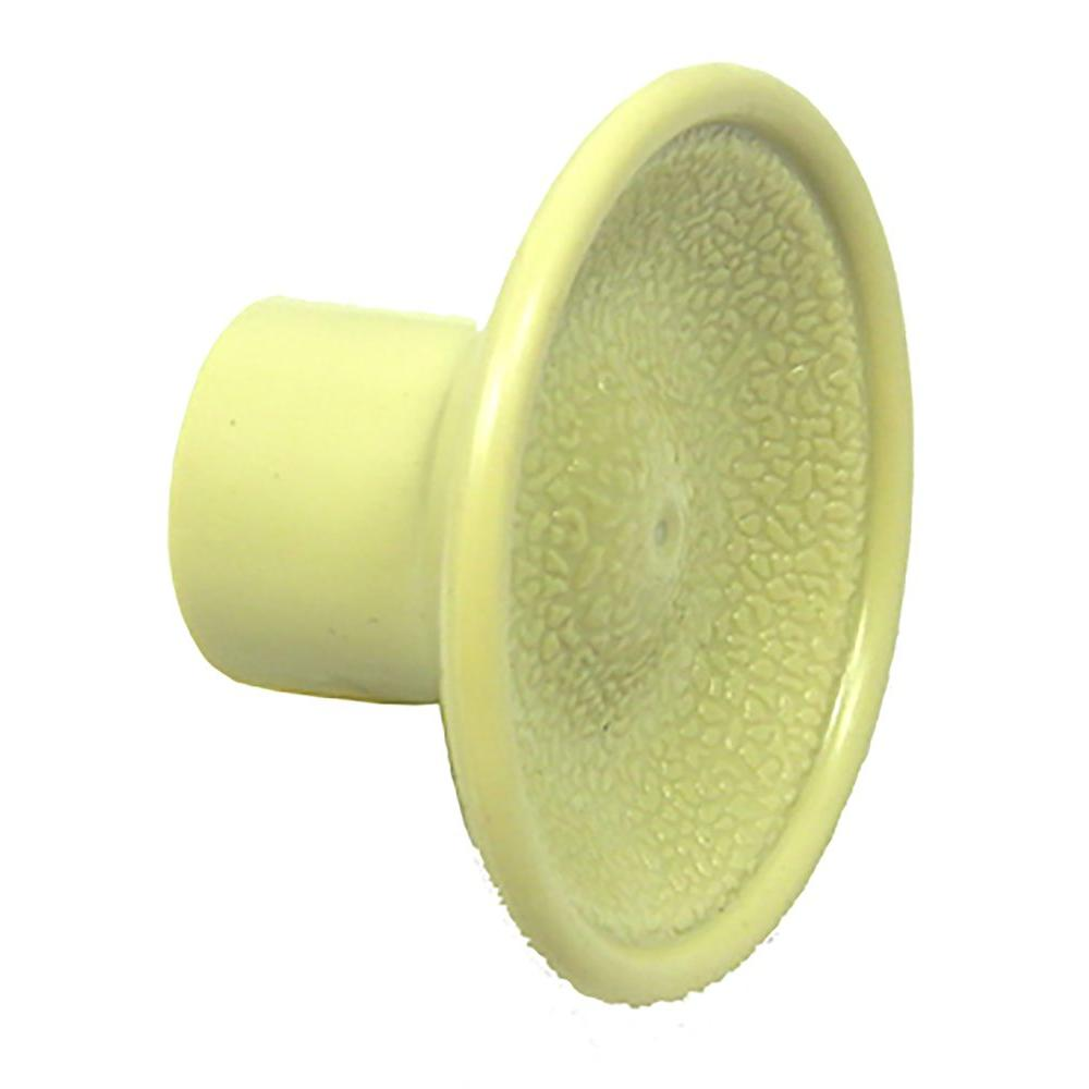 Barton Kramer Ivory Plastic Round Knob for Bi-fold Door
