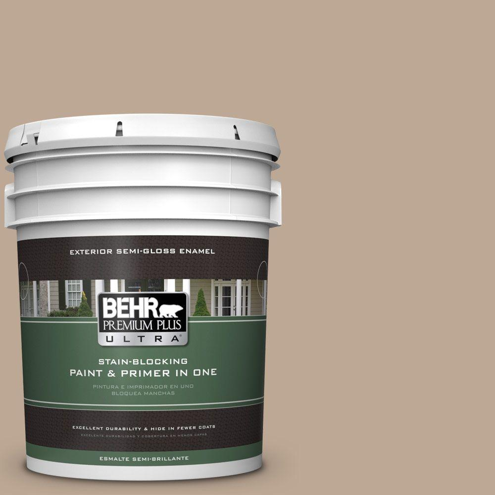 BEHR Premium Plus Ultra 5-gal. #700D-4 Brown Teepee Semi-Gloss Enamel Exterior Paint