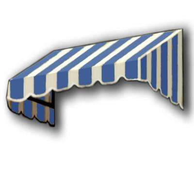 3 ft. San Francisco Window/Entry Awning (56 in. H x 36 in. D) in Bright Blue/White Stripe