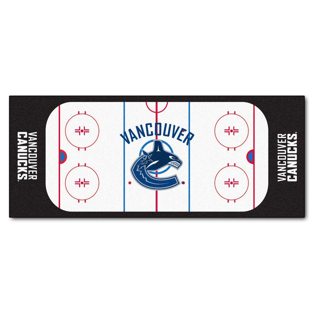 Fanmats Vancouver Canucks 2 Ft 6 In X 6 Ft Rink Rug