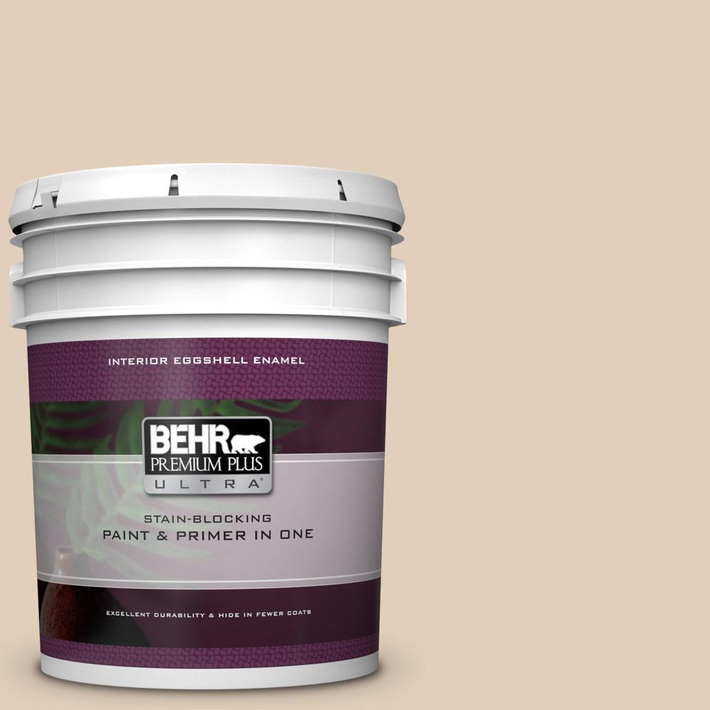 Behr Premium Plus Ultra 5 Gal Pwn 66 Toasted Cashew Eggshell Enamel Interior