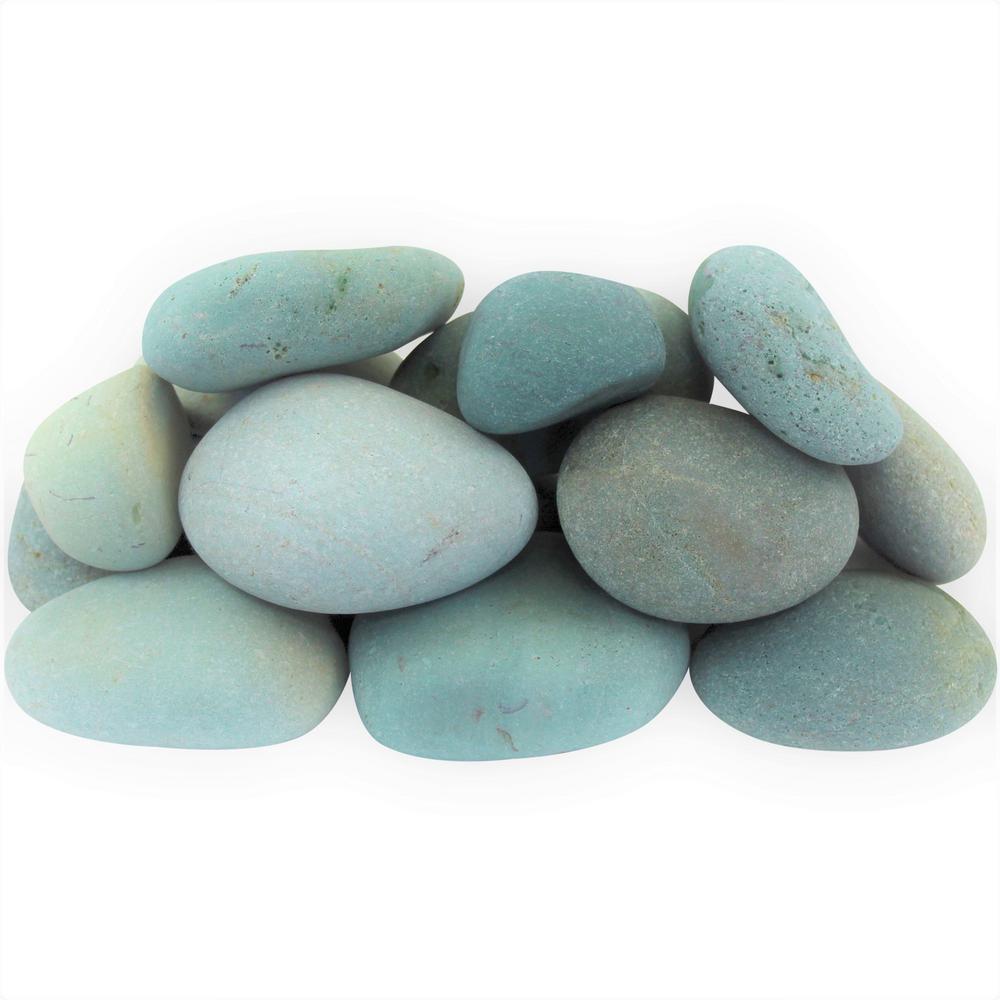 12.0 cu. ft. 3 in. to 5 in. 900 lbs. Tahiti Green Beach Pebbles