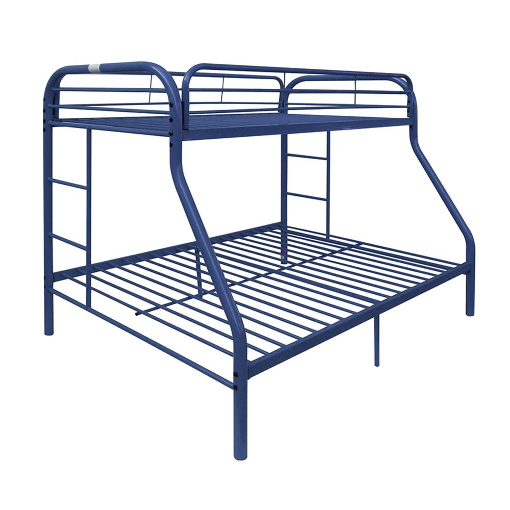 Acme Furniture Tritan Blue Twin Over Queen Metal Kids Bunk Bed