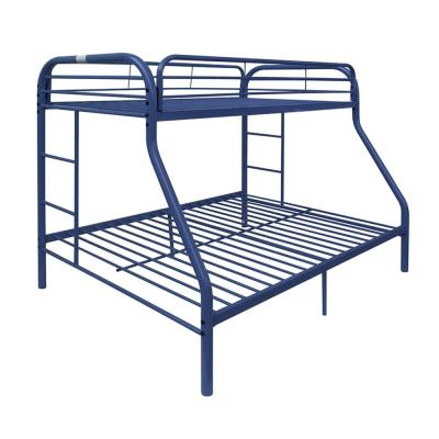 Tritan Blue Twin Over Queen Metal Kids Bunk Bed