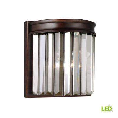 Carondelet 1-Light Burnt Sienna Sconce with LED Bulb