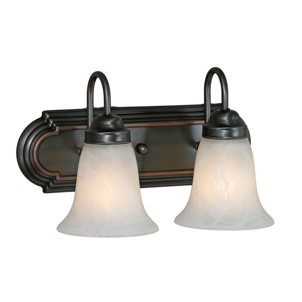 null Yvonne Collection 2-Light Oil-Rubbed Bronze Vanity Light