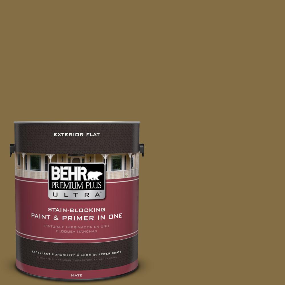 BEHR Premium Plus Ultra 1-gal. #370F-7 Pinetop Flat Exterior Paint
