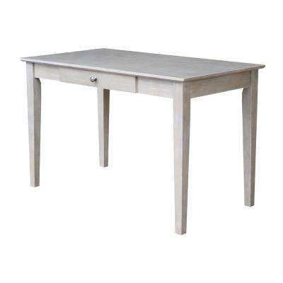 Weathered Taupe Gray Solid Wood Desk