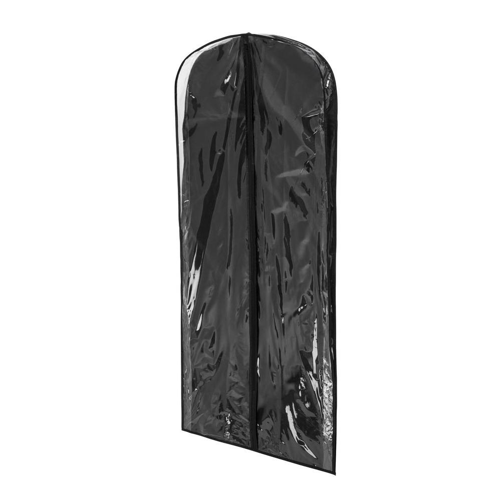 3db6d592a768 Honey-Can-Do Black Polyester and Clear Vinyl Dress Bag (2-Pack)