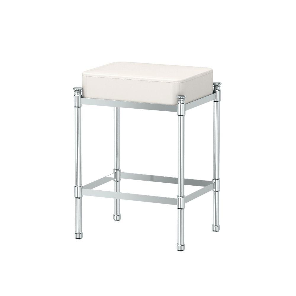Safavieh Georgia White Poly Cotton Vanity Stool Mcr4546t