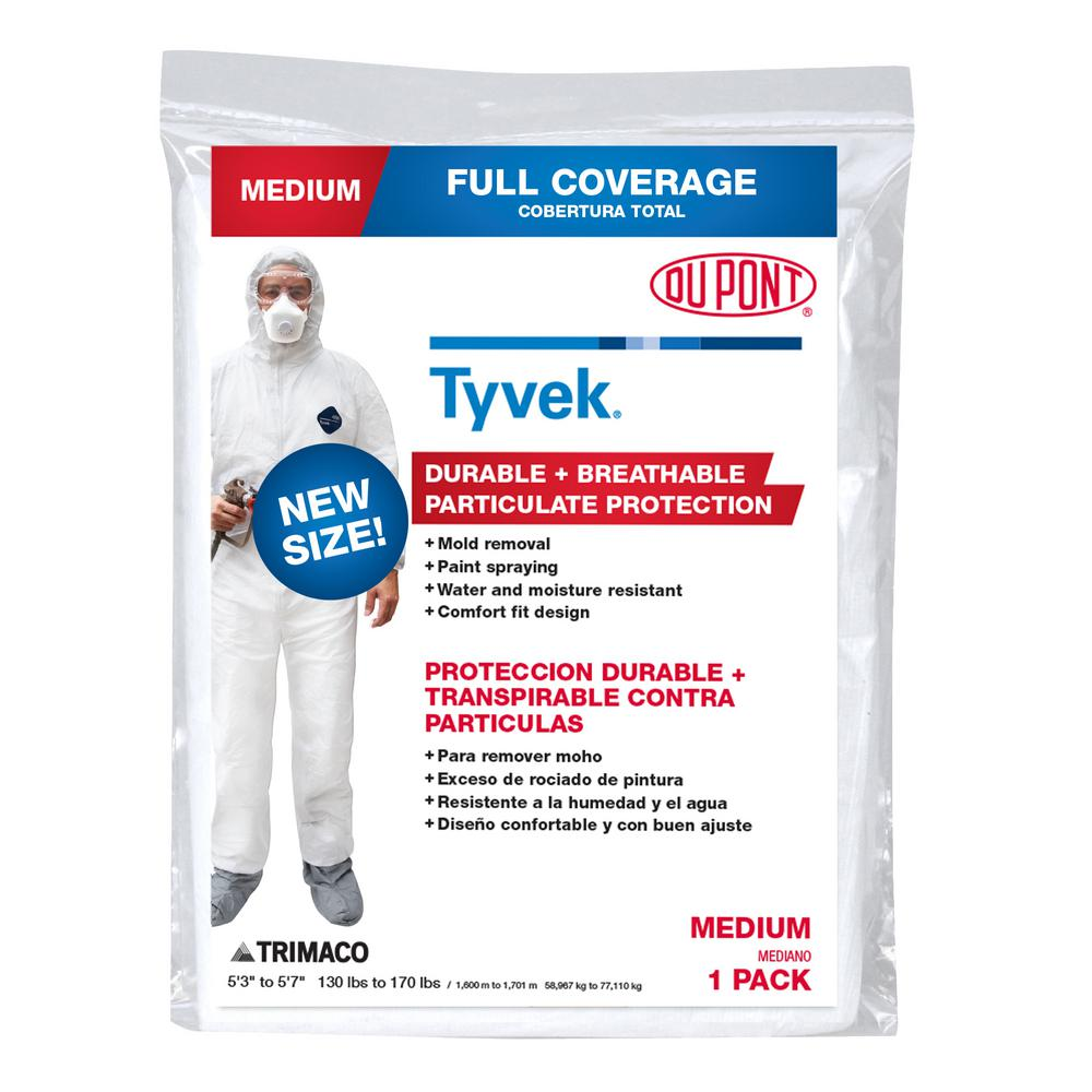 TRIMACO DuPont Tyvek Medium Painters Coverall with Hood and Boots