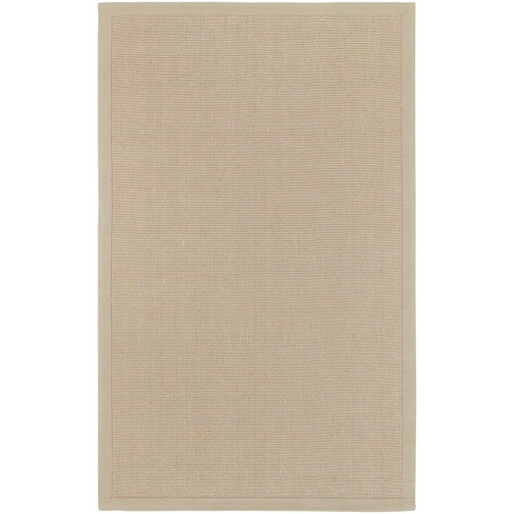 Flores Beige 5 ft. x 8 ft. Indoor Area Rug