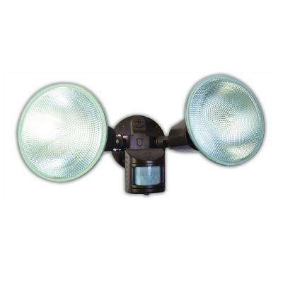 150-Watt 170-Degree Bronze Motion Activated Outdoor Flood Light with Dual Heads