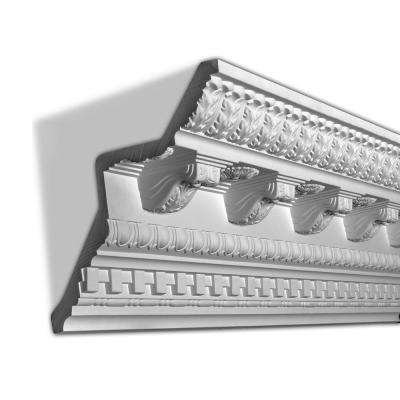 9-13/16 in. x 9-15/16 in. x 96 in. Corbels, Dentil and Egg and Dart Polyurethane Crown Moulding