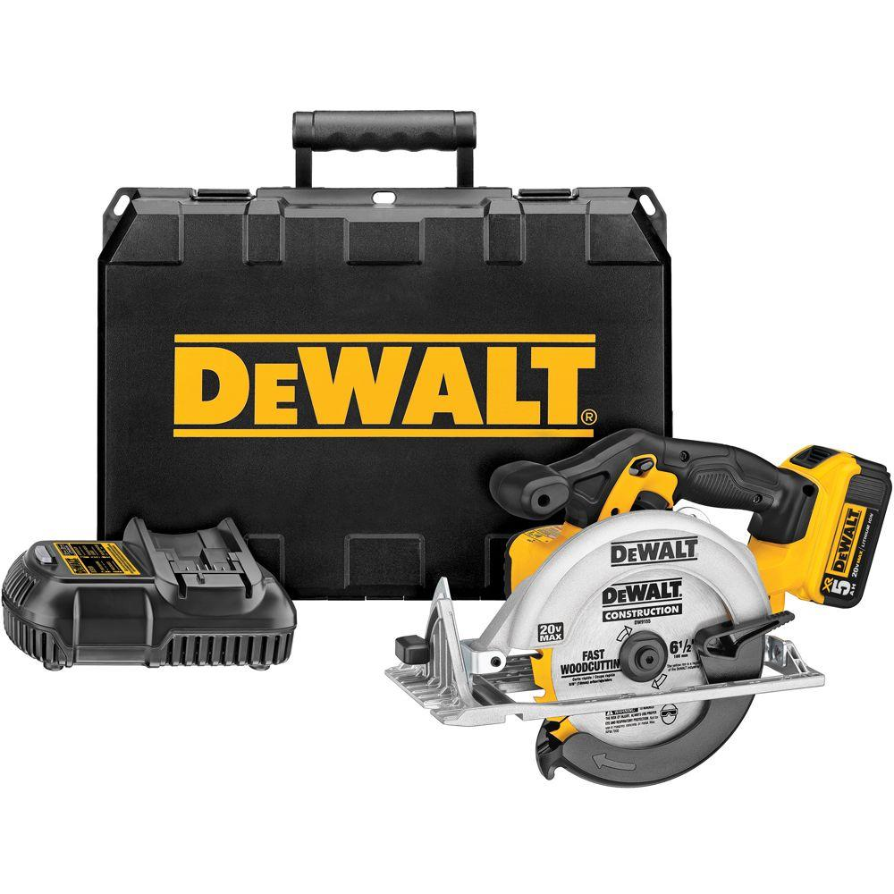 20-Volt MAX Lithium-Ion Cordless Circular Saw Kit with Battery 5Ah, Charger