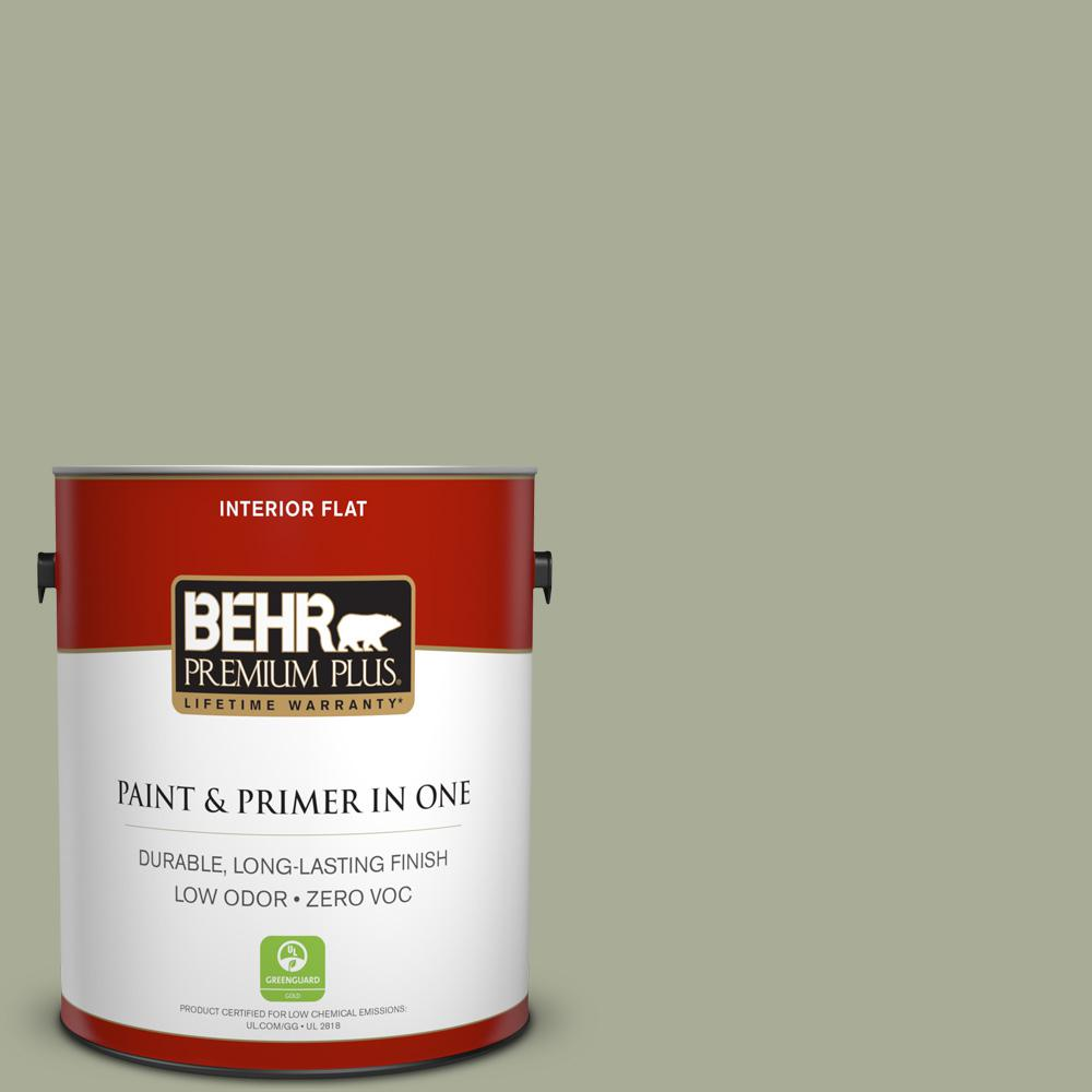 BEHR Premium Plus 1-gal. #S380-4 Bay Water Flat Interior Paint