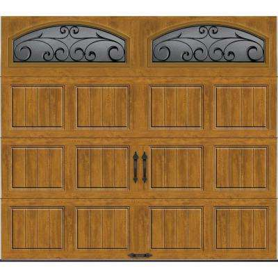 Gallery Collection Insulated Short Panel Garage Door with Wrought Iron Window & Carriage Style - Garage Doors - Garage Doors Openers ... Pezcame.Com