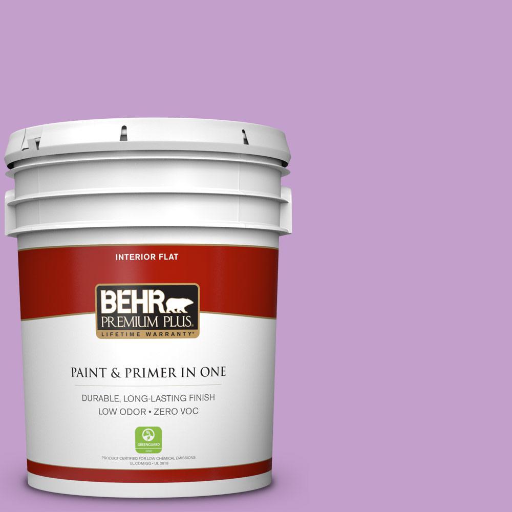BEHR Premium Plus 5-gal. #P100-4 Lover's Knot Flat Interior Paint